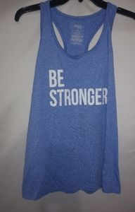 Danskin Now Blue BE STRONGER Tank Top L